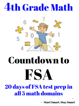 4th Grade Countdown to FSA (Math) Standardized Test Review Packet