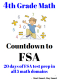 4th Grade Math Florida FSA Printable DISTANCE LEARNING REVIEW / TEST PREP PACKET