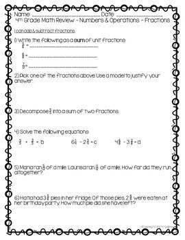 4th Grade Cumulative Math Review