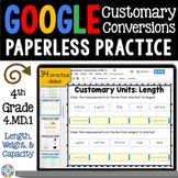4th Grade Customary Conversions {4.MD.1, 4.MD.2} Google Classroom