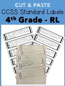 4th Grade Cut & Paste CCSS Labels - RL