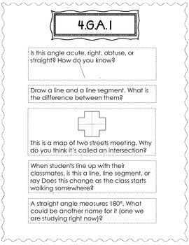 4th Grade Math Journals for Interactive Notebooks {CC Aligned Geometry}