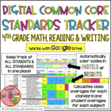 4th Grade DIGITAL Common Core Standards Tracker for Math, Reading & Writing