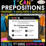 4th Grade DIGITAL Grammar Game | Prepositions & Prepositio
