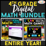 4th Grade DIGITAL Math BUNDLE | Google Classroom | Distanc