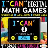 4th Grade I CAN Math Games DIGITAL | Google Classroom | Ma