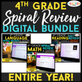 4th Grade DIGITAL Spiral Review BUNDLE | Google Classroom