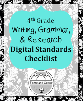4th Grade DIGITAL Writing, Grammar, and Research Standards Checklist