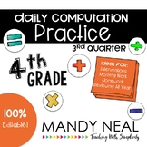 4th Grade Daily Computation Math Practice/ Spiral Review /Homework Practice