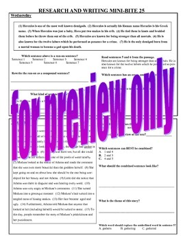 4th Grade Daily ELA Review - Research and Writing Mini Bites Weeks 25 to 32