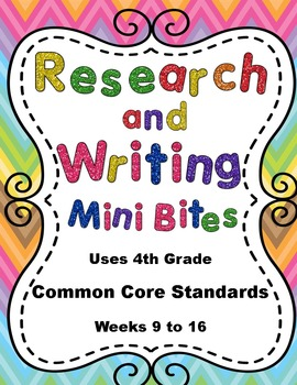 4th Grade Daily ELA Review - Research and Writing Mini Bites Weeks 9 to 16