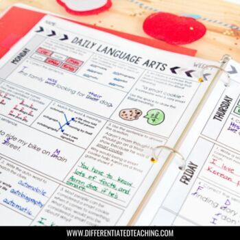 4th Grade Daily ELA for Writing & Language: Morning Work for Weeks 1-9