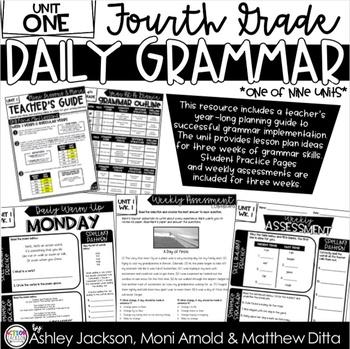 4th Grade Daily Grammar Unit 1