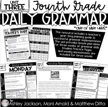4th Grade Daily Grammar Unit 3