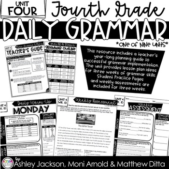 4th Grade Daily Grammar Unit 4