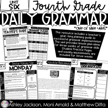 4th Grade Daily Grammar Unit 6
