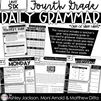 4th Grade Daily Grammar Unit 6