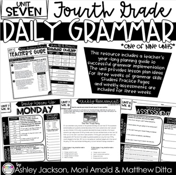 4th Grade Daily Grammar Unit 7