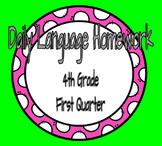 4th Grade Daily Language Spiral Review Homework- 1st quarter