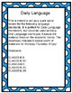 4th Grade Daily Language Spiral Review Homework- 3rd quarter