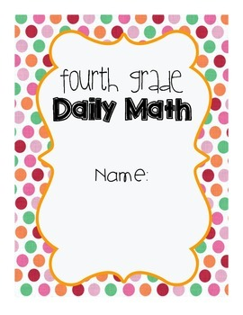 4th Grade Daily Math Cover