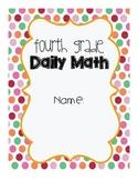 4th Grade Daily Math Cover