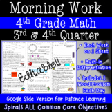 Math Morning Work for 4th Grade - 3rd and 4th Quarter