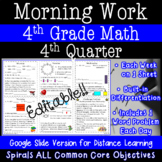 4th Grade Daily Math Morning Work - 4th Quarter