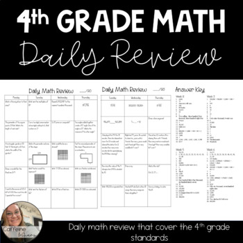 4th Grade Daily Math Review