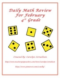 4th Grade Daily Math Review for February