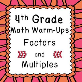 4th Grade Daily Math Review Warm Ups Factors Multiples Pri