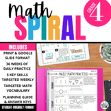 4th Grade Math Spiral Review PRINT & DIGITAL | Full Year