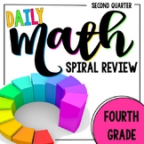 4th Grade Daily Math Spiral Review - Morning Work for Weeks 10-18