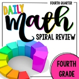 4th Grade Daily Math Spiral Review - Morning Work for Weeks 28-36