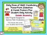 Math Word Wall (4th Grade) GEOMETRY plus slideshows