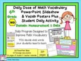 Math Word Wall (4th Grade) MEASUREMENT & DATA plus PPT Slideshows
