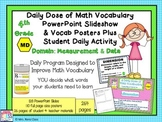 Math Word Wall (4th Grade) MEASUREMENT & DATA plus PPT Slideshows