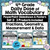 Fractions & Measurement & Geometry Word Wall Plus PPT Slid