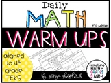 Daily Math Warm-Ups  - 4th Grade (12 weeks)