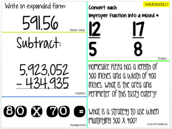4th Grade Daily Math Warm-up: 1 month free!