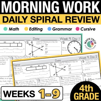 4th Grade Morning Work - 1st 9 Weeks
