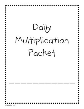4th  Grade Daily Multiplication Practice