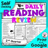 4th Grade Daily Reading Comprehension Review - Second Quarter