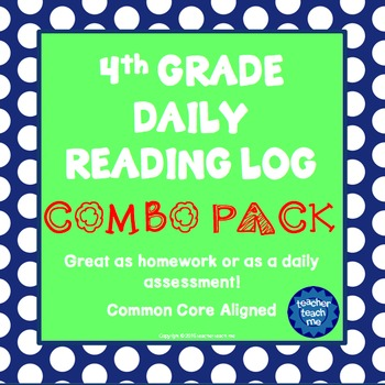4th Grade Daily Reading Log – COMBO PACK