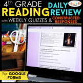4th Grade Daily Reading Review & Quizzes | Google Classroom | Distance Learning