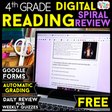 4th Grade DIGITAL Reading Comprehension Practice & Quizzes | Google Forms | FREE
