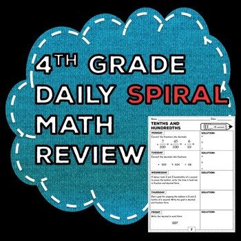 4th Grade Spiral Math Review: Week's Worth of Problems for