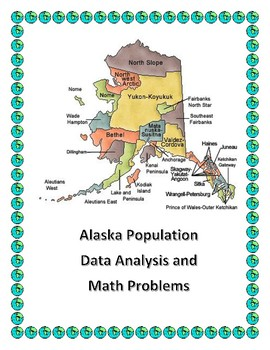 US State Data Analysis and Math Word Problems Bundle - Using State Populations