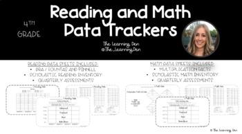 4th Grade Data Tracking Sheets - Reading and Math