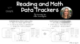 4th Grade Data Tracking Sheets - Reading and Math